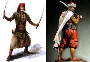 Combattenti ottomani. Di terra e di mare