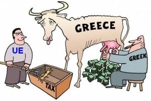 Crisi greca. Vignetta