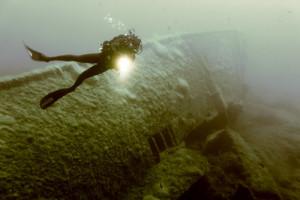 Foto subacquea relitto
