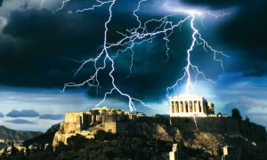 Fulmini sul Partenone