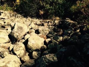 Le grosse pietre della cava