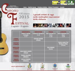Locandina date Caroso Festival