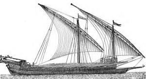 Nave ottomana da corsa