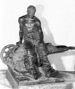 il minatore, opera di Enrico Butti