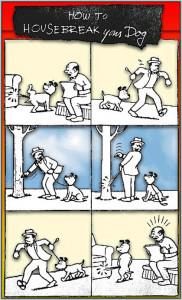 Vignetta cane e padrone