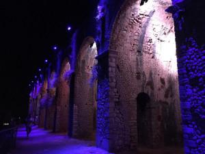 Arcate del tempio. Illuminz. notturna
