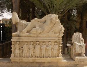 Garden of Palmyra Archeological Museum. Reperti del periodo romano