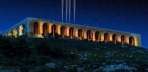L'illuminazione notturna del sito