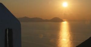 Palmarola al tramonto