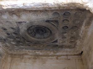 Soffitto della nicchia nord del tempio