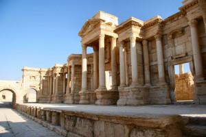 The_Scene_of_the_Theater_in_Palmyra. Il Teatro romano