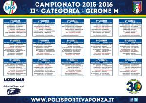 Calendario stagione 2015-16. Resized