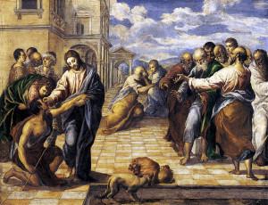 """El Greco. """"Gesù Cristo guarisce il cieco nato"""" (1567)"""