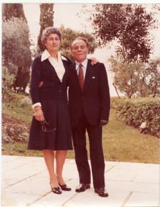 Fiorina col marito Carmine. Vitiello anche lui