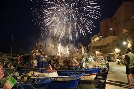 Fuochi d'artificio per la festa di S. Candida