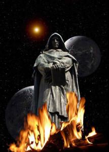 Giordano Bruno. LA statua a Campo de' Fiori in Roma