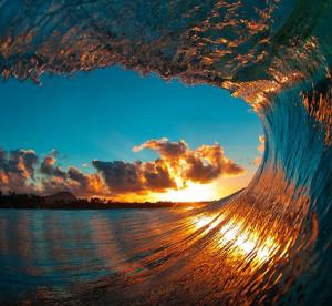 Immagine nell'onda