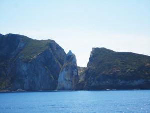 La Forcina vista dal versante di Ponza