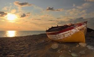 La fine dell'estate. Barca