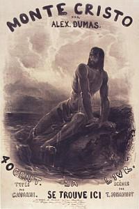 Louis_Français-Dantès_sur_son_rocher. Ediz originale 1846 de Il Conte di Montecristo'
