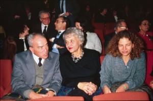 Pietro Ingrao con la moglie Laura e la figlia Renata nel 1979