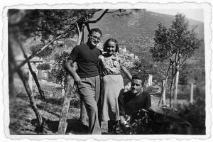 Pietro Ingrao. Una foto giovanile con il fratello Francesco
