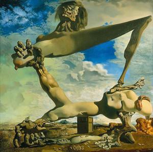 Salvador Dali. Morbida costruzione con fagioli bolliti. Prefigurazione di guerra civile (1936)