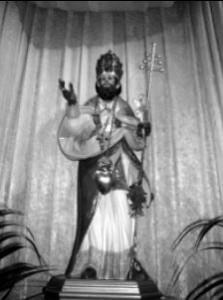 Immagine del santo alla chiesa