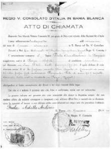 """In tanto si facevano i documenti per il viaggio, si doveva aspettare """"L'Atto di Chiamata"""". Era l'unica maniera che l'Italia accettasse l'uscita come """"Riunificazione Familiare"""". Voleva dire che l'uomo che era lontano chiamava tutta la famiglia per portarla con se."""