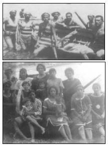 Bagnanti alla spiaggia. Ponza. 1930.