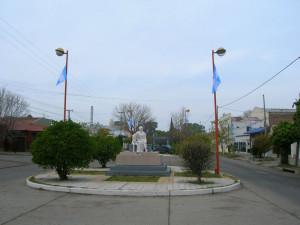 Calles de la ciudad. Banderas