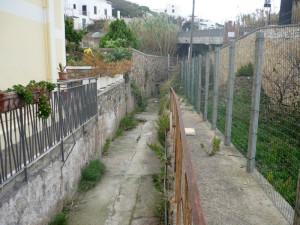 Canale di Chiaia di Luna. Poco prima del tunnel