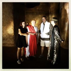 Cordella con il regista la costumista e Rosario Coppolino che interpreta Erode