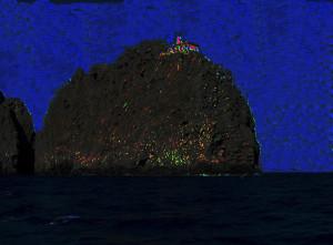 Faro della Guardia. Isola_di_Ponza. Effetto notte