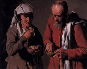 George de la Tour. I mangiatori di piselli
