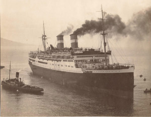 Il transatlantico Conte Grande.1928