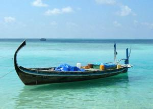 Imbarcazione maldiviana. Doney