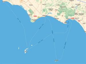 Laziomar. Mappa-destinazioni
