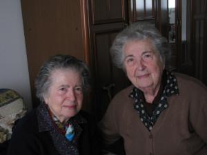 Maria Galano con la sorella Rosa