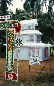 Pira funebre in Sri Lanka