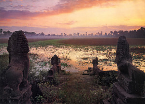 11.Angkor. Sunset
