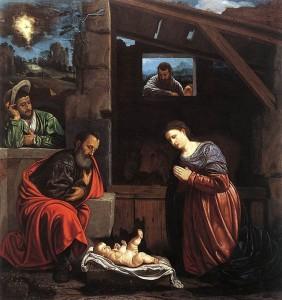 Giovanni Gerolamo Savoldo. Adorazione dei pastori. Brescia