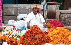 Varanasi. Flower market.2