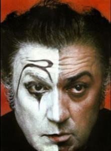 7. Federico Fellini as clown