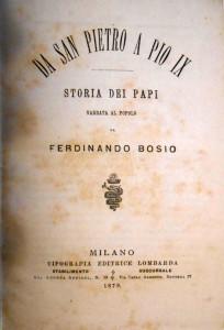 Da S. Pietro a Pio IX. Copertina libro