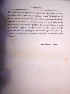 F. Bosio. Avvertenza.3