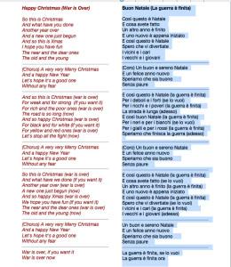 Happy Christmas. Lyrics