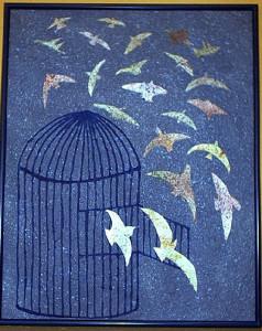 La cage. Disegno di Folon