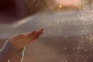 La polvere attraversata dalla luce