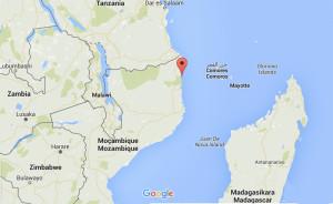Mozambique. Google Map